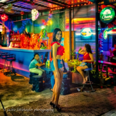 ladyboy evening along Chalong